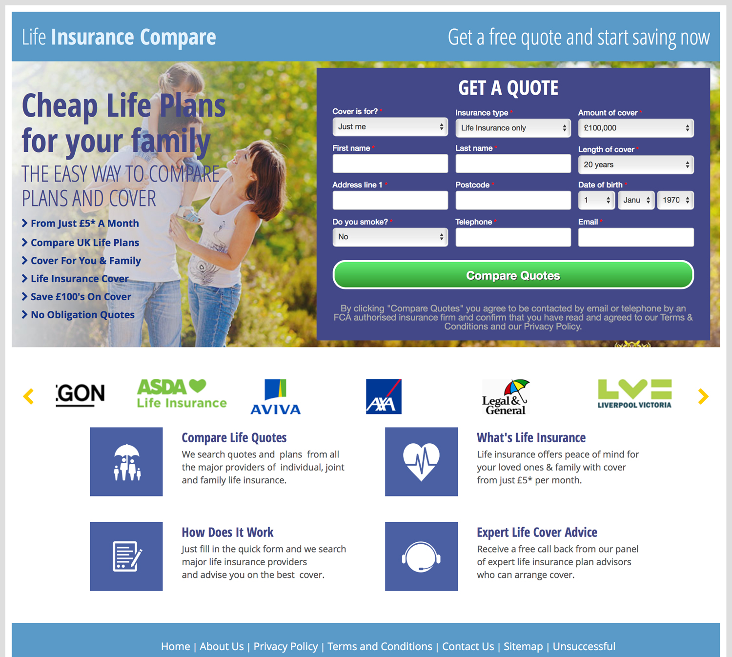 Life Insurance Quote Uk Compare Life Insurance Quotes Online